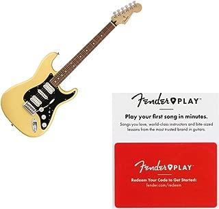 Fender Player Stratocaster HSH Pau Ferro Buttercream Electric Guitar w/Prepaid
