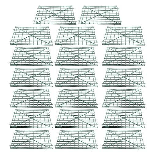 Sharplace 20xPlastic Panel Holder Rack Malla Valla Boda Pared Flor Telón de Fondo DIY 22x22cm