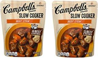 5+ Servings Campbell's Slow Cooker Sauces Beef Stew, 12 oz. (2 Pack)
