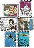 Grecia Michel.-No..: 1320,1321,1322,1323, 1324,1325 (completa.edición.) 1978 rotUnry, foscolo, vuelos con motor u.Un. (sellos para los coleccionistas) Rotary/Lions/Francmasón/Pathfinder