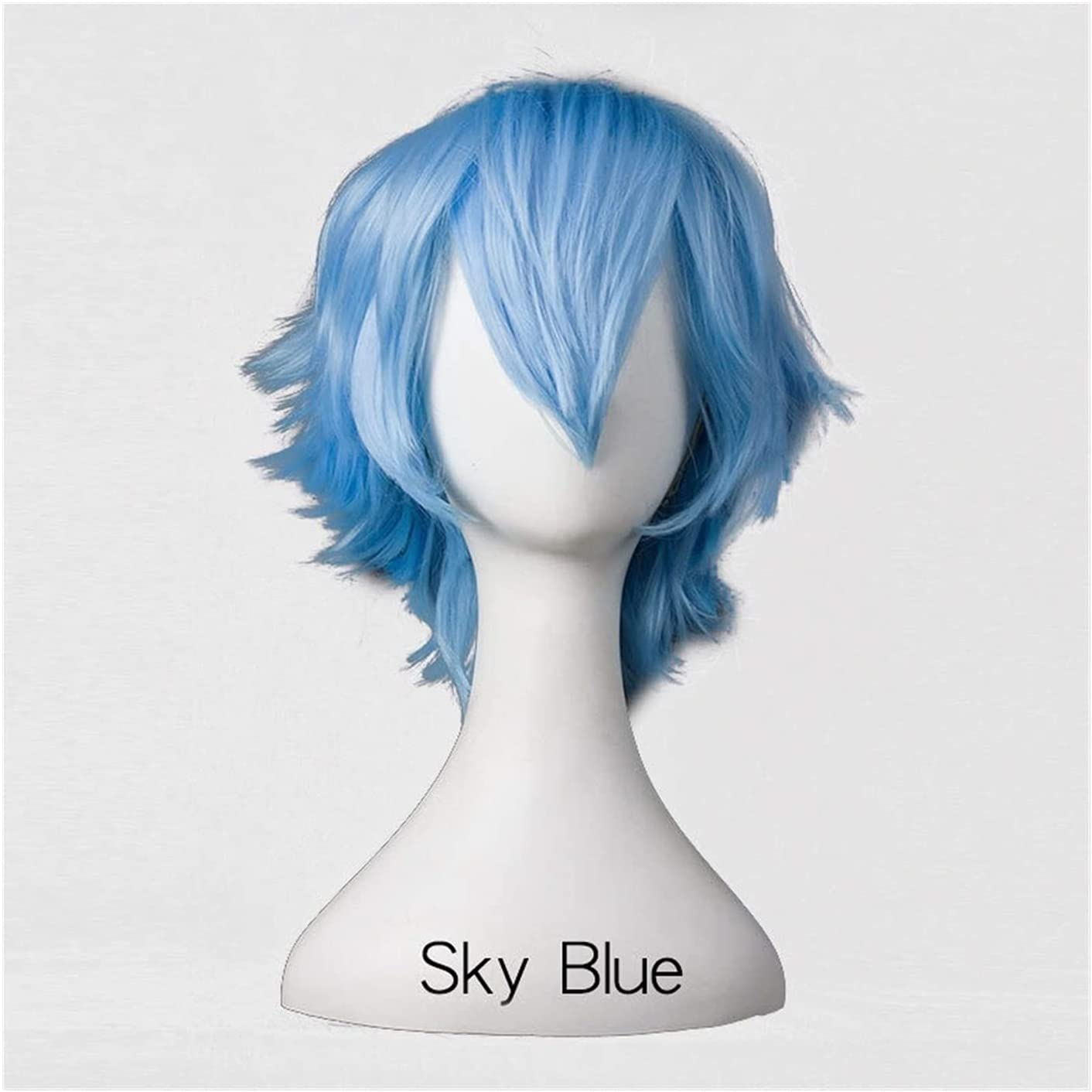 GDYJP Wigs 30cm Short Wig high Synthetic unisex Fiber Temperature Blue Baltimore Mall