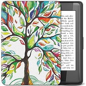 TiMOVO Kindle Paperwhite Funda , Delgada Cubierta Case Ligera Protectora con Función de Auto Wake/Sleep , Árbol de la Suerte