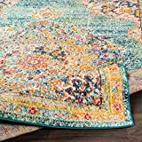 Tomales 5' 3' x 7' 3' Moroccan Bohemian Updated Traditional - Oriental Area Rug - Rectangle - Polypropylene - Teal, Navy, Pale Blue, Orange, Green, Red, Coral, Fuschia, Saffron, Yellow, Gray
