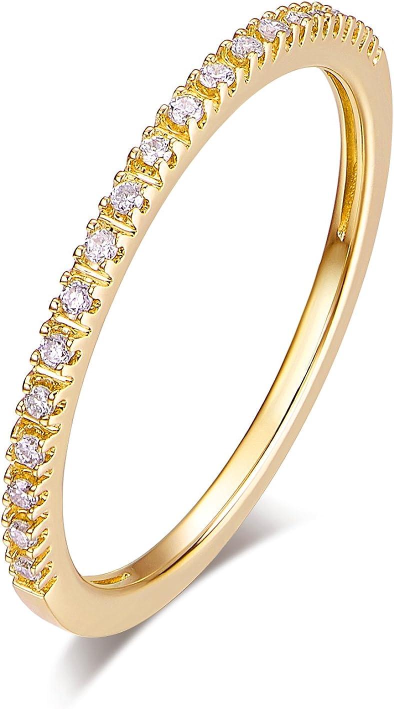 HAFEEZ CENTER 14K Gold Riviera Micropave Half Diamond Ete Super-cheap low-pricing Petite