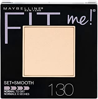 Maybelline New York Fit Me Set + Smooth Powder Makeup, Buff Beige, 0.3 oz.