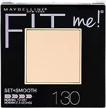 Maybelline New York Fit Me Set + Smooth Powder Makeup, Buff Beige, 0.3 oz.