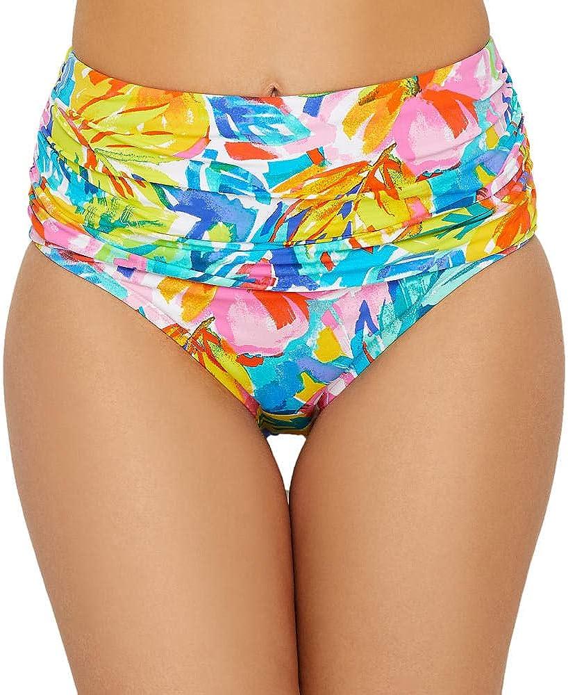Bleu Rod Beattie Women's Bloom in Love High Waist Shirred Brief Swim Bottom L19915