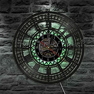 ZKS-KS CVG 1Piece Big Ben Circel Wall Lights Big Ben Clock LED Edge Lit Logo Emblem Light London LED Wall Light Bedside Wa...