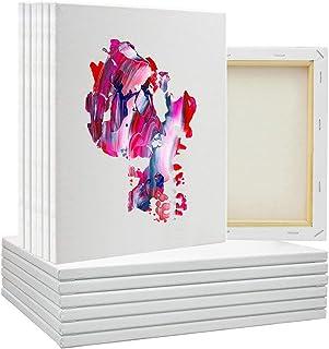 5pcs / set White Blank Art Boards Mini Stretchable Art Board for Artist Acrylic Oil Paint Wood Cotton Art Painting DIY Boa...