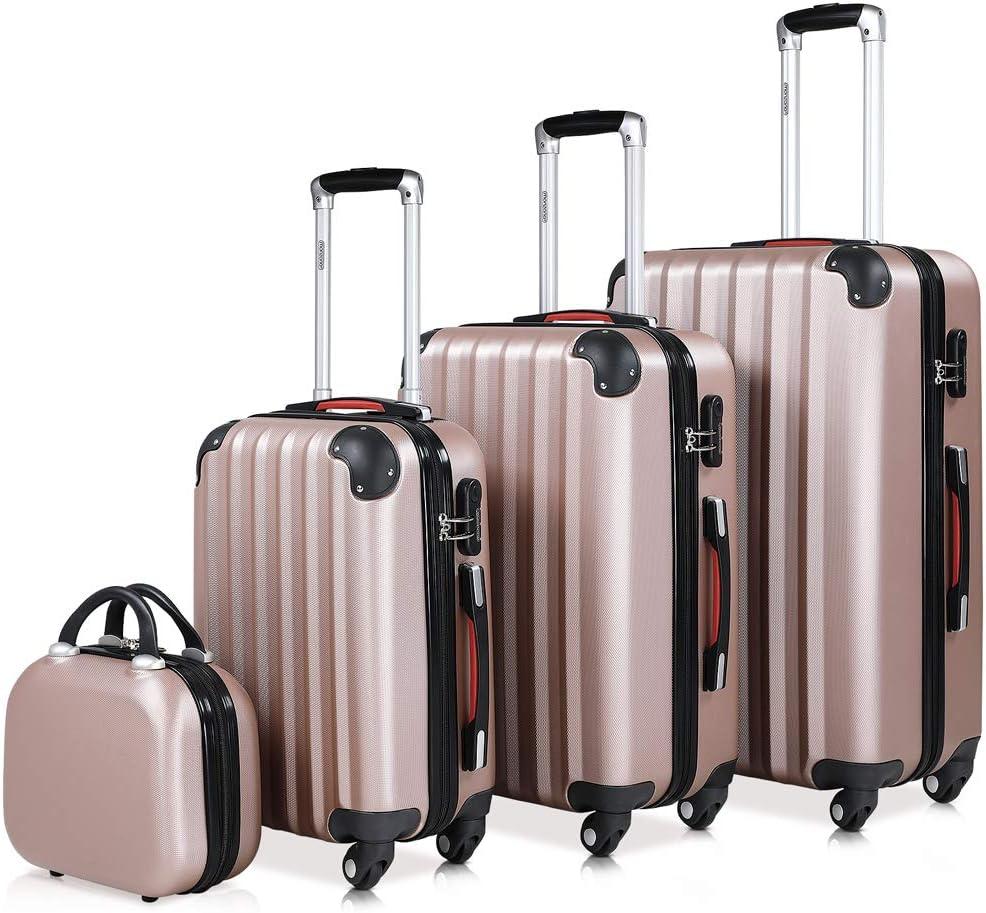 Monzana set di 4 valigie rigide beauty