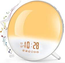 Sunrise Alarm Clock, Te-Rich Wake Up Light with FM Radio/Dual Alarm/7 Nature Sounds & Light Colors/Snooze/20 Brightness, Sleep Aid Lamp Dawn Simulator for Heavy Sleepers/Kids/Teen Girls Boys Bedrooms