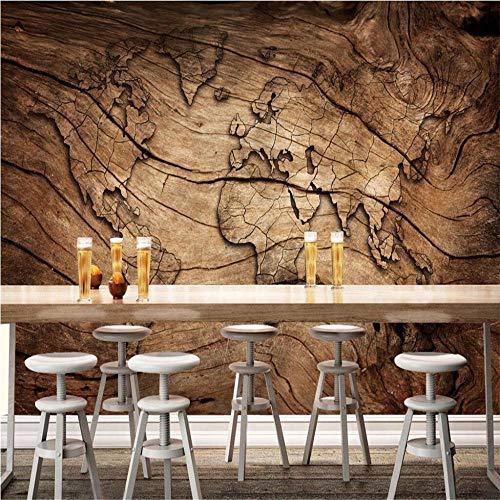 Fotobehang, muurstickers, personaliseerbaar, vintage, houtnerf, wereldkaart, achtergrond, woonkamer, slaapkamer, tv-achtergrond, wandbehang, 3D About 350*245cm 3 stripes