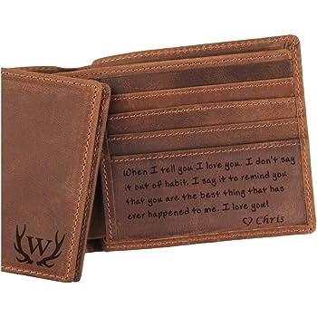 Mens Engraved Wallet UK Premium leather secure organiser smart elegant bargain