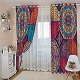 BEDSERG Decoración de ventana de sombreado de cortina de aislamiento térmico...