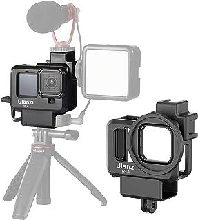 Ulanzi G9-4 Gopro Hero9 専用 保護ケース 直接充電可能 65g軽量アクションカメラ アクセサリーケース コールドシューマウントと 52mmフィルターアダプター付き Type-c充電口を用意され 3.5mmマイクアダプター...