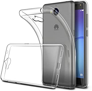 Soft TPU Transparent Fit Protector Case for Huawei Y6 2017, Y5 2017, Anti Slip, Scratch Resistant