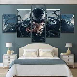 MhY 5 Piezas HD Print Venom Marvel Movie Poster Pinturas sobre Lienzo Arte de la Pared para Decoraciones del hogar Decoración de la Pared 20x30cm-2p_20x40cm-2p_20x50cm-1p_No_Frame