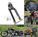 HONGK- 4' Under 18' Black Springer Front End Compatible with Harley Bobber Chopper Softail Dyna [B07M988XHF]