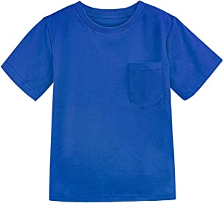 MOMBEBE COSLAND Camiseta Niños de Manga Corta 100% Algodón Color Sólido