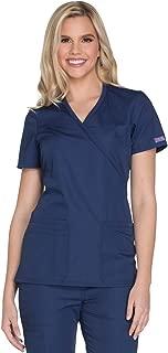 Women's Workwear Core Stretch Mock Wrap Scrubs Shirt