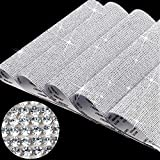 60000 Pieces Bling Rhinestone Stickers Glitter Crystal Sheets DIY Gem Stickers Self Adhesive Car Decoration Stickers 7.8 x 9.4 Inch for Car Cellphone Decor, 5 Sheets x 12000 Pieces