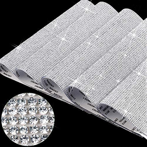 46350 Piezas Cristales Diamantes de Imitación Hojas de Pegatinas de Diamantes Blancos...