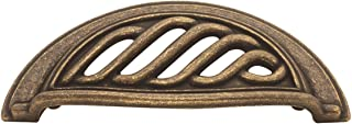 Hickory Hardware PA1322-WOA Charleston Blacksmith Cup Cabinet Pull, 3-Inch, Windover Antique