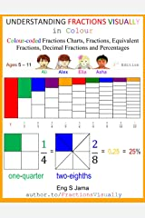 UNDERSTANDING FRACTIONS VISUALLY in Colour: Colour-coded Fractions Posters, Fractions, Equivalent Fractions, Decimal Fractions and Percentages ペーパーバック