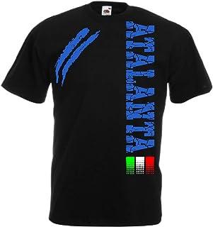 Generico t-Shirt Atalanta Tifosi Ultras Calcio Sport dalla S alla 3XL e 4 Colori Disponibili