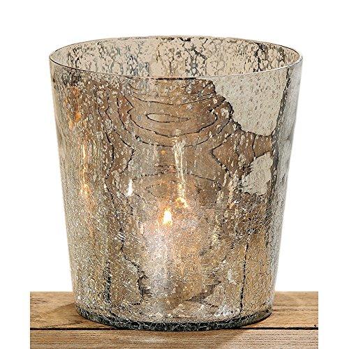 Boltze Teelichthalter Windlicht Bauernsilber Ramira 15 cm