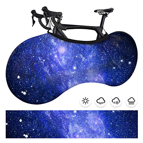 Popbird Bike Covers, Dustproof Indoor Mountain Bicycle Wheel Cover, Washable Elastic Anti-Scratch Bicycle Cover with Gear Garage Protective Function Suitable for Tires of 24-26 Inches. (Glaxy III)