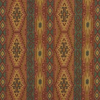 J9600J Southwestern Striped Geometric Woven Decorative Novelty Upholstery Fabric by The Yard