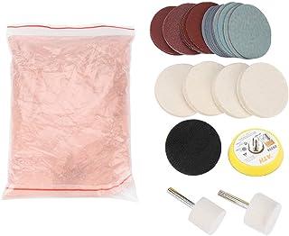 Aramox Kit de Pulido de Vidrio Juego de eliminación de rayones Pulido Almohadilla de Fieltro, Rueda de Pulido/Almohadilla de Pulido/Disco abrasivo