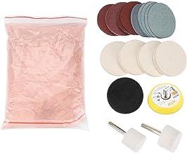Aramox Polijstpadset, glas, polijstset, krasverwijderingsset, polijstpad, vilt, polijstschijf, polijstschijf, slijpschijf