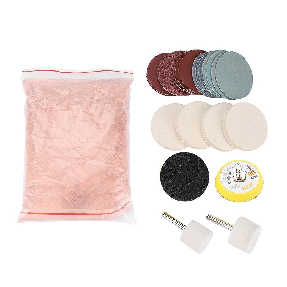無条件ドループ縮れたQiilu ガラス研磨 ガラススクラッチ除去 酸化セリウムセット 研磨バフ ポリッシャー