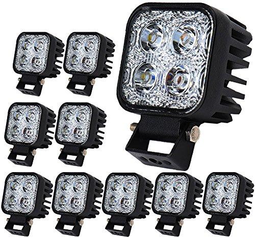 Lot de 10 ampoules LED 12W pour Phares arrière de Voiture,étanches,IP67
