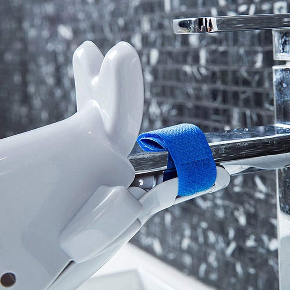 AKOAK 1 Pack Faucet Extender, Bathroom Children Washing Hands Happy Fun Animal Bathroom Sink (gray)