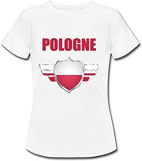 6e5232578fef9 yonacrea T-Shirt Enfant - Pologne - Coupe du Monde de Football 2018 - Prénom