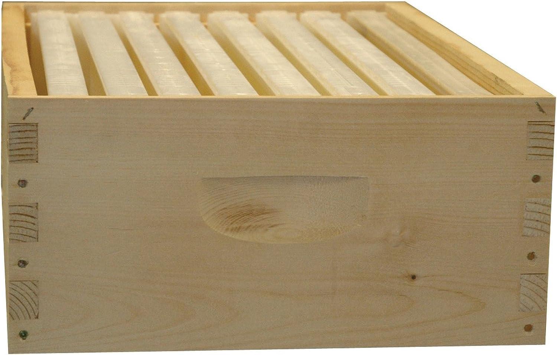 8Frame Assembled Honey Super Kit, Wood Frames, Made in the USA