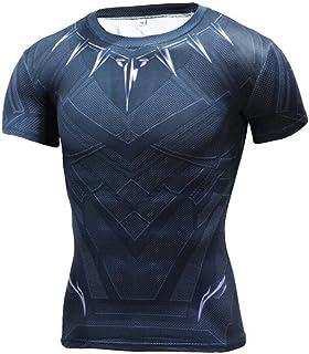 Jecool Black Panther T Shirt Civil War Tee 3D Printed T-Shirts Men Boys Costume