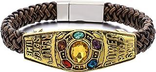 N-BOOMOR Infinite War Power Soul Stone Magnet Thanos Bracelets Cosplay Women Men Charm Bangles Jewelry