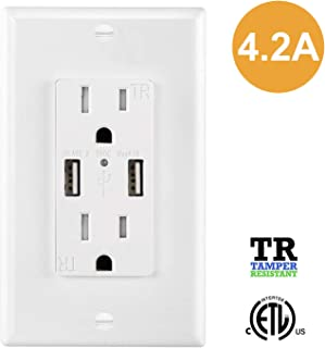 Best gfci outlet with usb charger Reviews