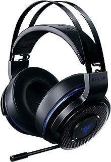 Razer Thresher para PlayStation - Auriculares inalámbricos para PS4, PS5 y PC (auriculares inalámbricos, 16 horas de duración de la batería, control de auriculares, almohadillas de cuero artificial) negro y azul