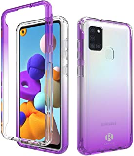 Remson Colorful Gradient Dual Layer Shockproof Back Case Cover for Samsung Galaxy A21S Protective Case Back Case Cover (Pu...