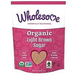 Wholesome Organic Light Brown Sugar, Fair Trade, Non GMO & Gluten Free, 1.5 lb (Pack of 1)