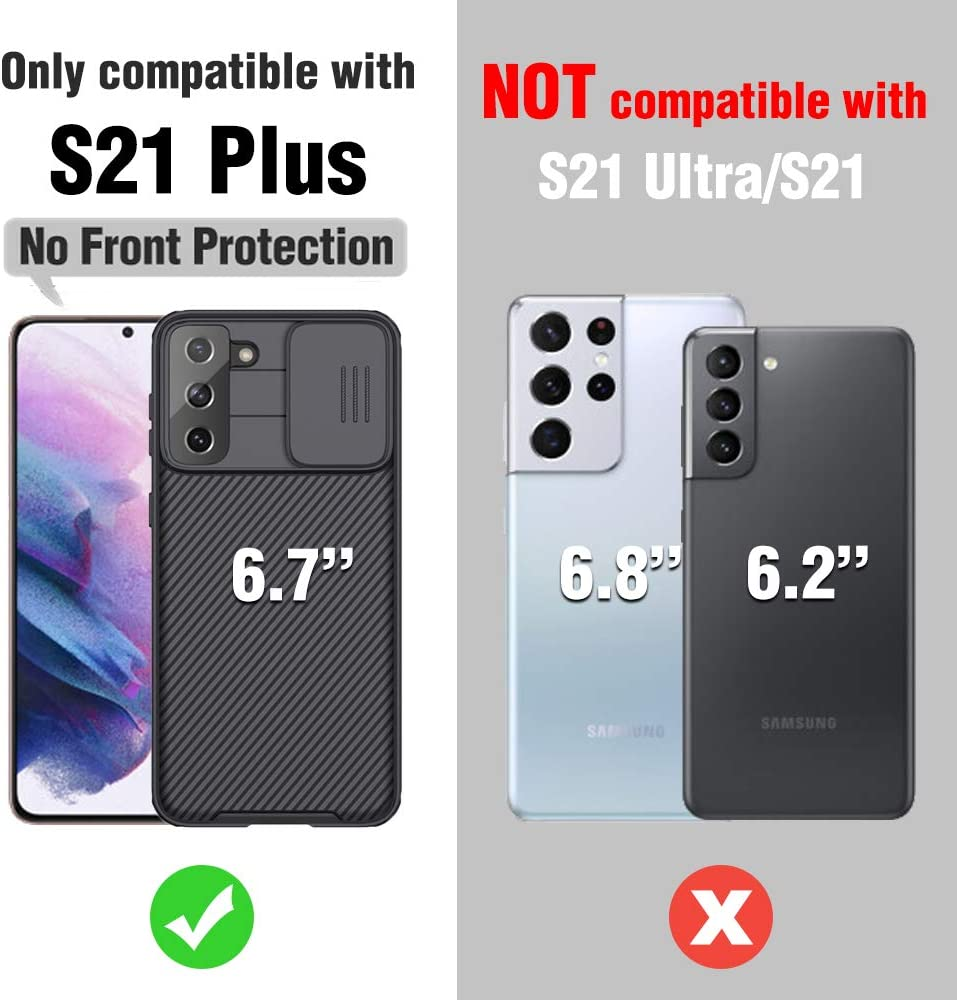 Nillkin Samsung S21 Plus Case, CamShield Pro Slim S21 Plus Protective Cover Case with Camera Protector Hard PC and TPU Ultra Thin Anti-Scratch Phone Case for Galaxy S21 Plus 6.7'' Black