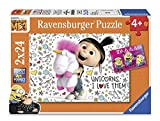 Ravensburger-4005556078110 Puzzle 2 x 24 Piezas, GRU, Mi Villano Favorito 3 (07811)