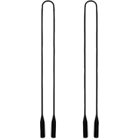 Luki 1962 Gomas Universales HOOK Cord/ón Cuelga Gafas Para Hombre o Mujer Cord/ón de Algod/ón Blanco y Negro 60 cm de largo 3 mm de ancho Cord/ón Para Gafas de Sol o De Ver