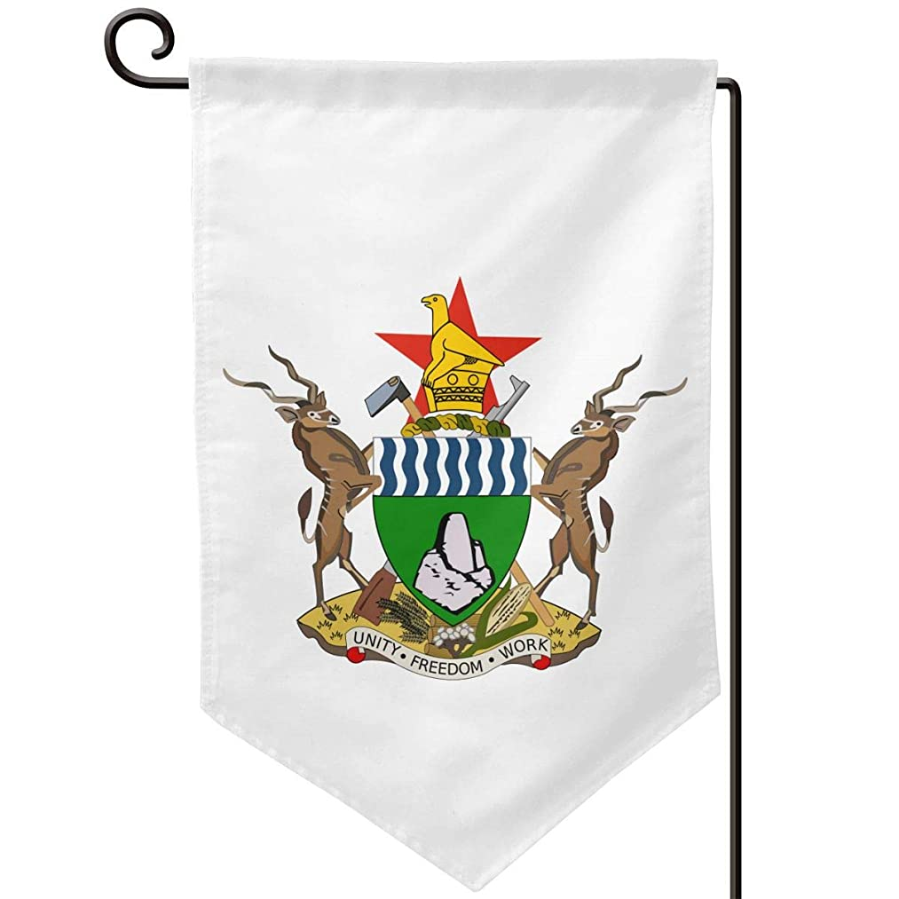 X-JUSEN Coat of Arms of Zimbabwe National Emblem Personalized Garden Flag, Outdoor Yard Decor, Vertical Double Sided Holiday Themed Flags - 12.5 X 18 Inch, Decorative Use