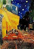 Close Up Terrasse de Cafe la nuit Poster Vincent Van Gogh